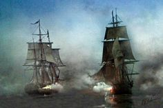 Nothing is more exciting to me than two sailing ships going head to head with cannons blazing in a deadly battle for survival. With no reinforcements coming, its one on one until one surrenders or is sunk. Every one of my images are created from from my photography and 3D art. All images are copyrighted and are licensed for personal use only. Any other use without the written permission of the artist is strictly forbidden. There might be a slight variation in color from your monitor image…