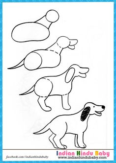 teach your kid to draw dog with simple drawing tips httpswww