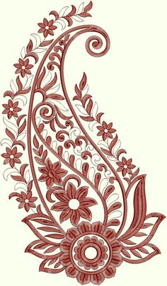 Shrink your URLs and get paid! Motif Paisley, Paisley Art, Paisley Design, Paisley Pattern, Embroidery Stitches, Embroidery Patterns, Hand Embroidery, Machine Embroidery, Print Patterns
