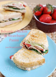 Chicken and Strawberry Panini #JustAddStrawberries #spon