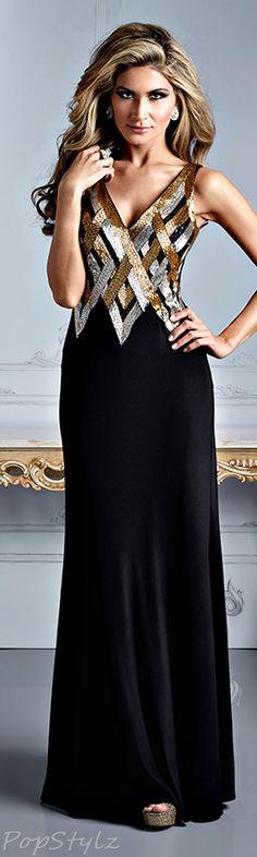 Terani Couture Black & Gold
