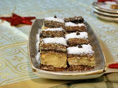 Prăjitură cu blat din bezea cu nucă și cremă de vanilie Tiramisu, Biscuit, Cooking, Ethnic Recipes, Desserts, Erika, Crochet, Recipes, Kitchen