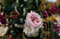 Oxford Floral Company Flower Design Wedding Plein AIre Danny K Photography Emily + Chris // Black Cherry Pink Gold Red Wedding