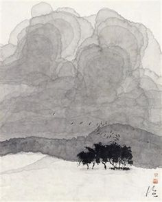 B-sides — Chen Jialing(陳 家泠 Chinese, via Zen Painting, Chinese Painting, Chinese Art, Japanese Ink Painting, Chinese Landscape, Abstract Landscape, Landscape Paintings, Art Asiatique, Black And White Painting