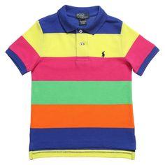 Boys Striped Cotton Polo T-Shirt 50.00 £ - Ralph Lauren