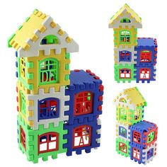 24pcs Mini Building Blocks Toys Construction Models DIY 3D Learning Educational Bricks Kids Baby Toys For Children