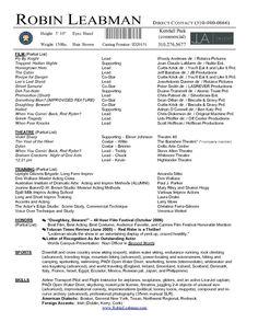 Resume Career termplate free Acting Resume Template Free Download - http://www.resumecareer.info/acting-resume-template-free-download-3/