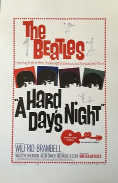 LOVE THIS!!! The Beatles A Hard Days Night movie poster 11 x by PosterAmerica