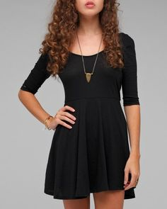 black jersey dress. fun with some cute tights and boots