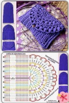 Kaleidoscope Mandala Bag Croch Discover thousands of images about Crochet purse pattern, only diagram , good enoughDiscover thousands of images about Monedero o bolsito tejido a crochet de una sola pieza piece crochet purse)!The prettiest crochet pur Crochet Purse Patterns, Crochet Pouch, Diy Crochet, Crochet Doilies, Crochet Baby, Crochet Hooks, Crochet Amigurumi, Hat Patterns, Knitting Patterns