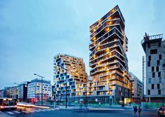"Home building, ZAC Masséna, Paris XIII ""Home"" is the  first residential high-rise building constructed in Paris since the 1970s. There is therefore a huge re..."