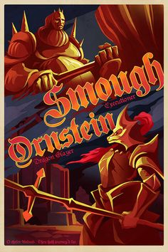 Dark Souls Poster  Dragon Slayer Ornstein and by Crowsmack on Etsy, $39.95