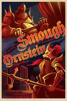 SMOUGH AND ORNSTEIN Dragon Slayer Poster Video Game Poster Wall Art House Warming Geek Art