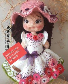 Amigurumi World Best Crochet Crochet Amigurumi Free Patterns, Crochet Doll Pattern, Crochet Toys, Crochet Baby, Knitting Dolls Clothes, Crochet Doll Clothes, Doll Tutorial, Amigurumi Tutorial, Crochet Doll Dress