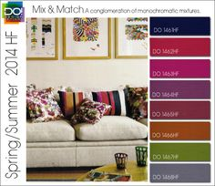 MIX AND MATCH Spring Summer 2014 Color Trends for Home Fashion