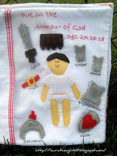 armor of God quiet book page