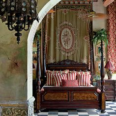 Rooms and common areas at the Gallery Inn exude old-world patina, from Spanish tiles and peeling walls to paintings and pottery made by both the owners and their guests