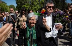 Ascension Mendieta, daughter of Timoteo Mendieta, who was shot in 1939 by forces of dictator Francisco Franco, arrives with her son Francisco to the burial of her father after he was exhumed from a mass grave in Guadalajara's cemetery by the Association for the Recovery of Historical Memory(ARMH), in Madrid, Spain July 2, 2017. REUTERS/Juan Medina via @AOL_Lifestyle Read more…