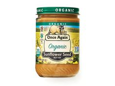 Once Again Organic Sunflower Seed Butter: Gone are the days when the nut-averse had to forgo creamy, fatty spreads. Welcome to the world of seed butters! Sunflower butter is one of our fiber-filled favorites, with a nearly-nutty flavor that tastes fabulous stirred into a bowl of oatmeal.