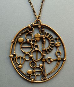 Wish it was sterling. Bronze Jewelry, Bronze Pendant, Jewelry Art, Vintage Jewelry, Handmade Jewelry, Jewelry Design, Unusual Jewelry, Minimalist Jewelry, Metal Working