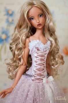 Available on Etsy https://www.etsy.com/shop/BabyChantillyAtelier - corset dress set for SD bjd doll Lillycat Cerisedolls Ellana and Lyse