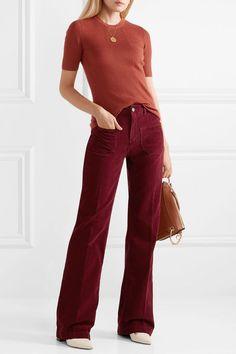 Vanessa Bruno | Dompay cotton-blend corduroy flared pants | NET-A-PORTER.COM