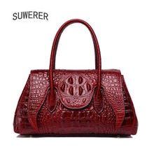 38d1c234b1ea7 SUWERER Women Genuine Leather bags for women 2019 new fashion luxury  handbags women bags designer tote