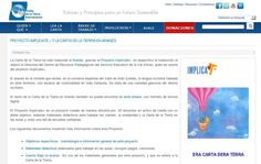 Proyecto Implícate + y la Carta de la Tierra en Aranés http://www.earthcharterinaction.org/contenido/articles/624/1/Proyecto-Implicate--y-la-Carta-de-la-Tierra-en-Aranes/Page1.html