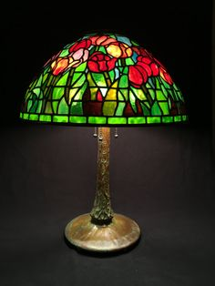 tiffany stained glass lamp. \ Tiffany Stained Glass Lamp T