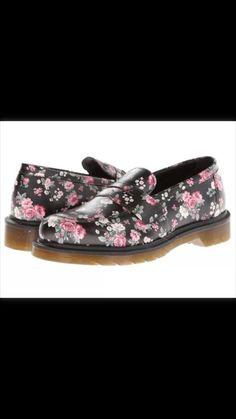 444cf998a38 Dr martens addy penny loafer black vintage rose softy t