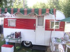 Amys VintageTrailers: Deming Vintage Trailer Rally 2011, twinkle lights on the awning