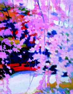 'The Weeping Cherry' by Japanese artist Tadashi Asoma (b. 1923).