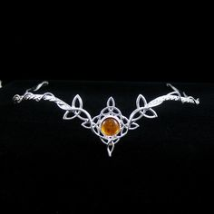 Celtic Circlets, Celtic Headpieces, Trinity Knot Circlets, Celtic Wedding, Celtic Gemstone Tiara at Camias Jewelry Designs