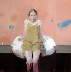 """Alex Kanevsky """"A.L.S.""""  36"""" x 36"""", oil on wood"""