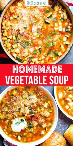 Vegetable Soup Recipe with fresh or frozen vegetables. Make vegetable soup on th… Vegetable Soup Recipe with fresh or frozen vegetables. Make vegetable soup on the stove, in Instant Pot or slow cooker. Healthy, simple and delicious easy veggie soup! Vegetable Soup Healthy, Vegetable Soup Recipes, Easy Soup Recipes, Healthy Vegetables, Easy Healthy Recipes, Vegetarian Recipes, Slow Cooker Veggie Soup, Dinner Recipes, Health Recipes