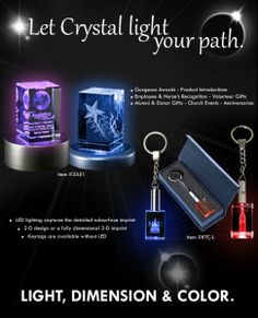 #Elegant and #eye-catching….this #clear #crystal #keytag will #light #up the #night with a custom 2-D or 3-D #subsurface #imprint.