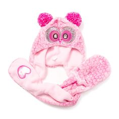 Kids Pink Owl Hooded Scarf | Claire's