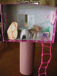 A Magic Treehouse to go along with the chapter books...excellent craft idea for Kendal's Magic Tree House slumber party!