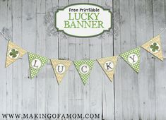 Lucky St. Patrick's Day Printable Banner #FreePrtinable #StPatricksDay
