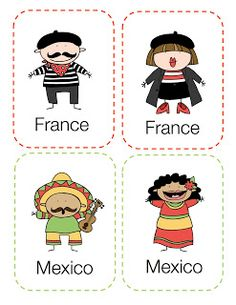 Preschool Printables: Around the World Printable  Could do a different country themed day for a week, with themed crafts, snacks, games, songs, and lessons.