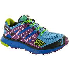 Salomon XR Mission Lady Blue/Purple/Green : Trail Running Shoes - Women's Shoes: Holabird Sports