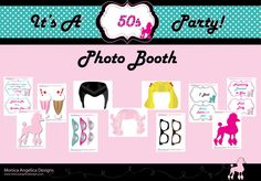 50s Retro Grease Inspired Photo Booth by MonicaAngelicaDesign