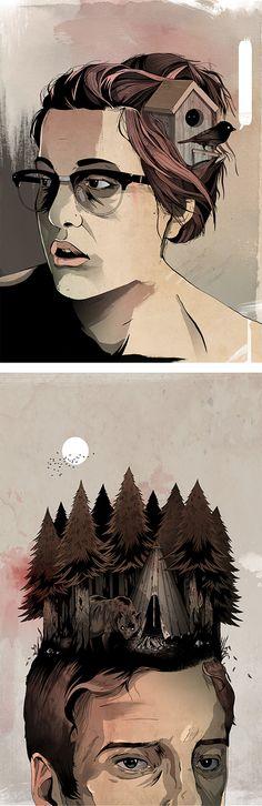Illustrations by Alexander Wells | Inspiration Grid | Design Inspiration