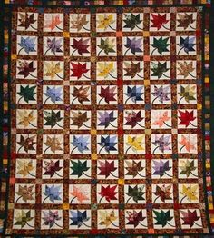 black and multicolor quilt | Autumn Splendor Green and Multicolor Amish Quilt For Sale