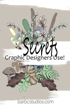 Graphic Designers do have secrets -  tools that they keep close at hand - it makes them more efficient! Arts And Crafts For Adults, Diy Arts And Crafts, Nature Pictures Flowers, Alone Art, Branding Your Business, Graphic Designers, Journal Ideas, Printable Art, Vintage Art