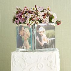 Photo Cake Topper | Photo Cube Wedding Cake Toppers