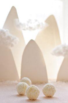 Coconut meringue snowballs /boule de neige meringue coco