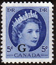 Canada 1955 SG O205 Official Overprint G Fine Mint SG O205 Scott O44 Other British Commonwealth Empire and Colonial stamps Here