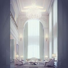 Image may contain: people sitting and indoor Mansion Interior, Home Interior Design, Big Mansions, Luxury Homes, House Design, Architecture, House Styles, Modern, Secret Bunker