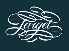 Target Script designed by Philip Eggleston. Calligraphy Letters, Typography Letters, Typography Logo, Caligraphy, Logos, Types Of Lettering, Lettering Design, Hand Lettering, Graffiti